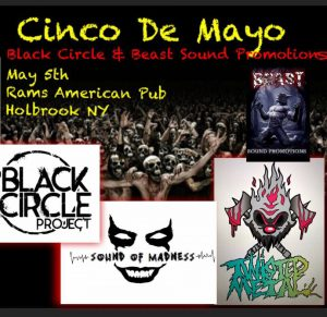 Beast & Black Circle Present The Cinco De Mayo Showdown @ Rams American Pub