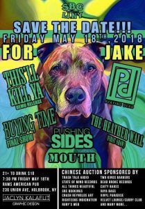 SBC Bookings Presents: A Benefit for Jake @ Rams American Pub