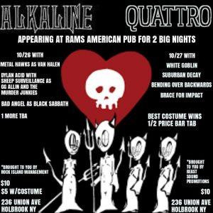 Alkaline Quattro @ Rams American Pub