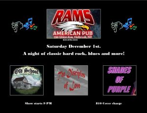 """The Return of """"The Night of The Rock"""" @ Rams American Pub"""