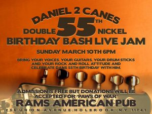 2 Canes Double Nickel Birthday Bash @ Rams American Pub