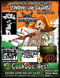 Pound it productions presents st Patrick's day slaughter @ Rams American Pub