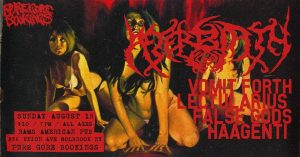 Pure Gore Presents: AfterBirth/VomitForth/Lectularius/Haagenti @ Rams American Pub