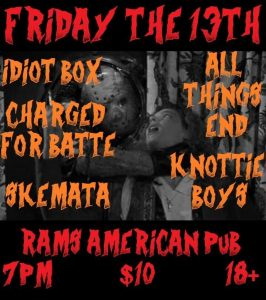 Friday the 13th @ Rams American Pub