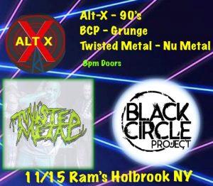 BCP / Twisted Metal / ALT X @ Rams @ Rams American Pub