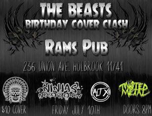 The Beast's Birthday Cover Clash @ Rams American Pub