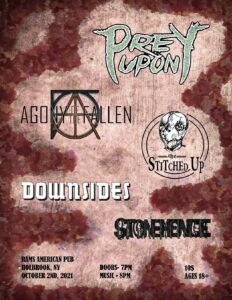 Prey Upon, Agony of the Fallen, The Stitched Up, Downsides, Stonehenge @ Rams American Pub